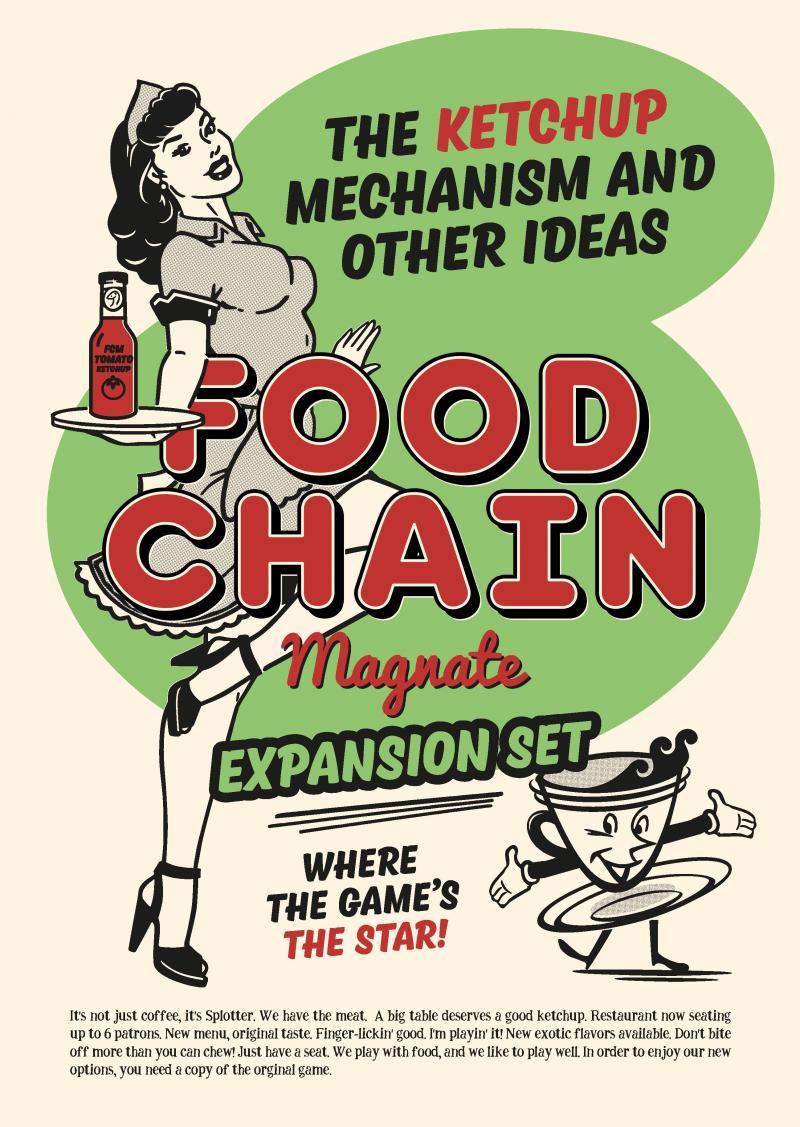 настольная игра Food Chain Magnate: The Ketchup Mechanism & Other Ideas Магнат пищевой цепи: механизм кетчупа и другие идеи