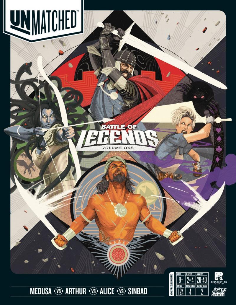 настольная игра Unmatched: Battle of Legends, Volume One Непревзойденный: Битва Легенд, Том первый