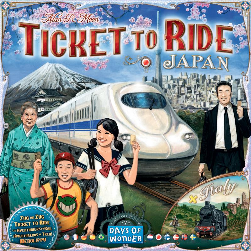 настольная игра Ticket to Ride Map Collection: Volume 7 – Japan & Italy Билет для поездки Карта Коллекция: Том 7 - Япония и Италия