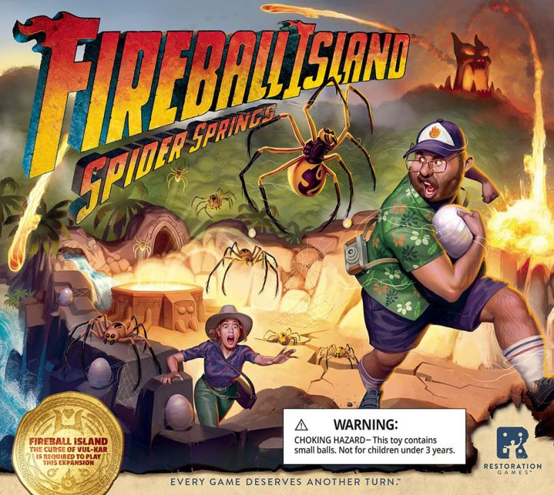 настольная игра Fireball Island: The Curse of Vul-Kar – Spider Springs Огненный шар: проклятие Вул-Кар - Паук-Спрингс