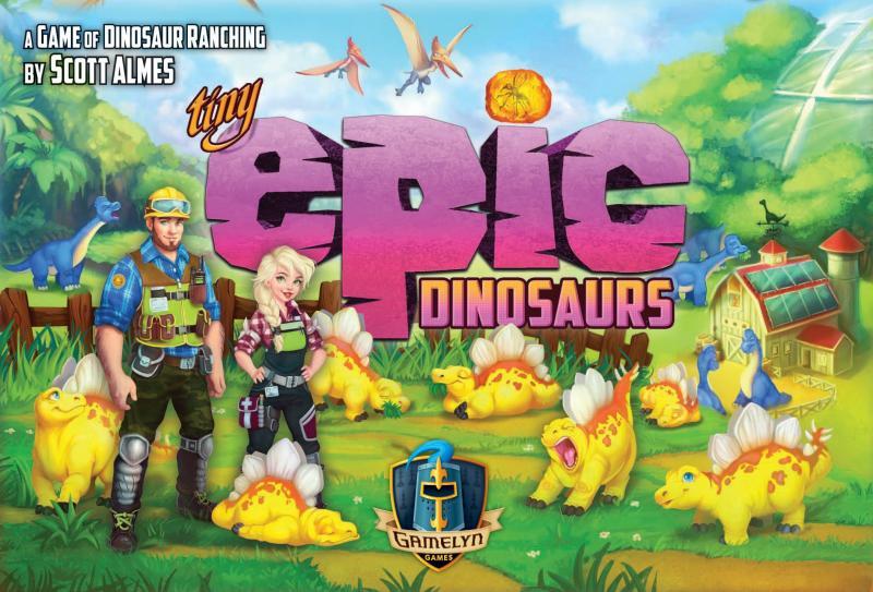 настольная игра Tiny Epic Dinosaurs Крошечные эпические динозавры