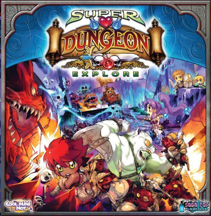 настольная игра Super Dungeon Explore Супер подземелье исследовать