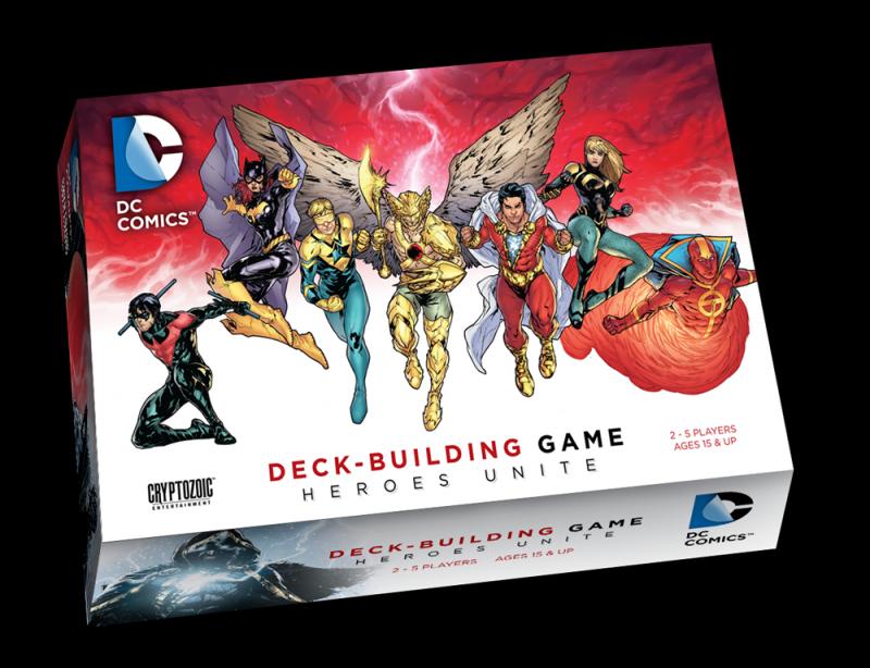 настольная игра DC Comics Deck-Building Game: Heroes Unite Игра для создания колоды DC Comics: объединение героев
