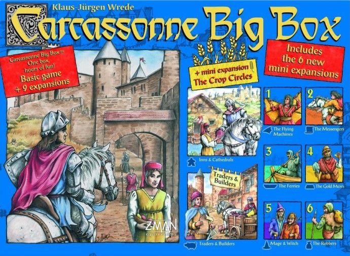 настольная игра Carcassonne Big Box 4 Каркассон Биг Бокс 4