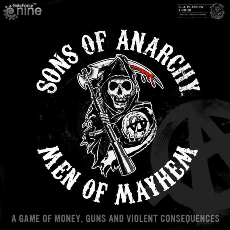 настольная игра Sons of Anarchy: Men of Mayhem Сыны анархии: люди беспредела