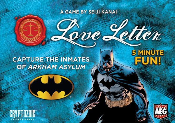 настольная игра Love Letter: Batman Любовное письмо: Бэтмен