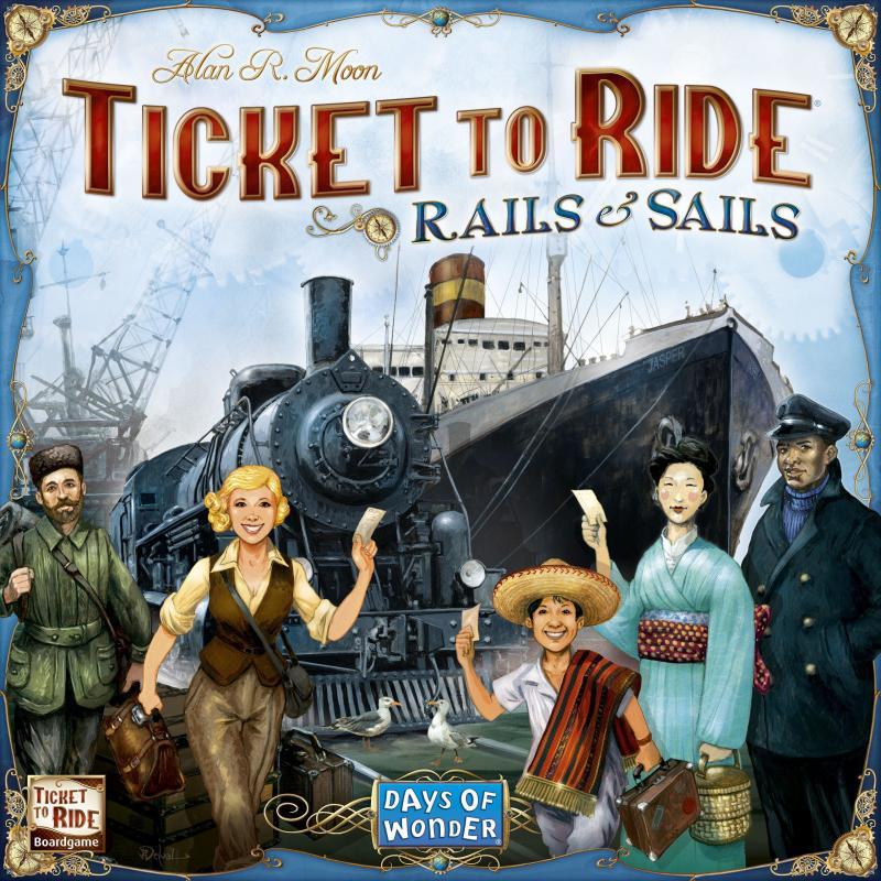 настольная игра Ticket to Ride: Rails & Sails Билет на поездку: рельсы и паруса