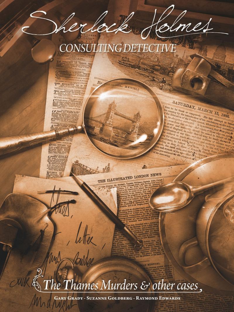 настольная игра Sherlock Holmes Consulting Detective: The Thames Murders & Other Cases Детектив-консультант по Шерлоку Холмсу: убийства в Темзе и другие случаи