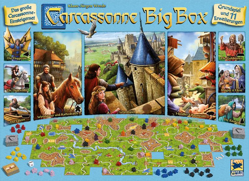 настольная игра Carcassonne Big Box 6 Каркассон Биг Бокс 6