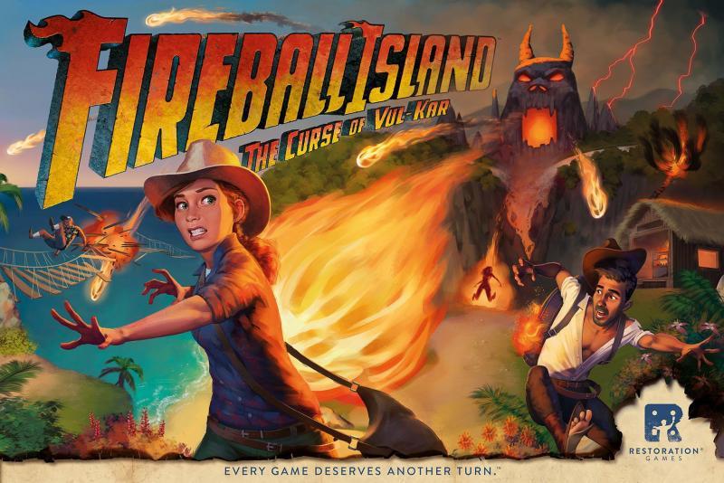 настольная игра Fireball Island: The Curse of Vul-Kar Огненный шар: проклятие Вул-Кар