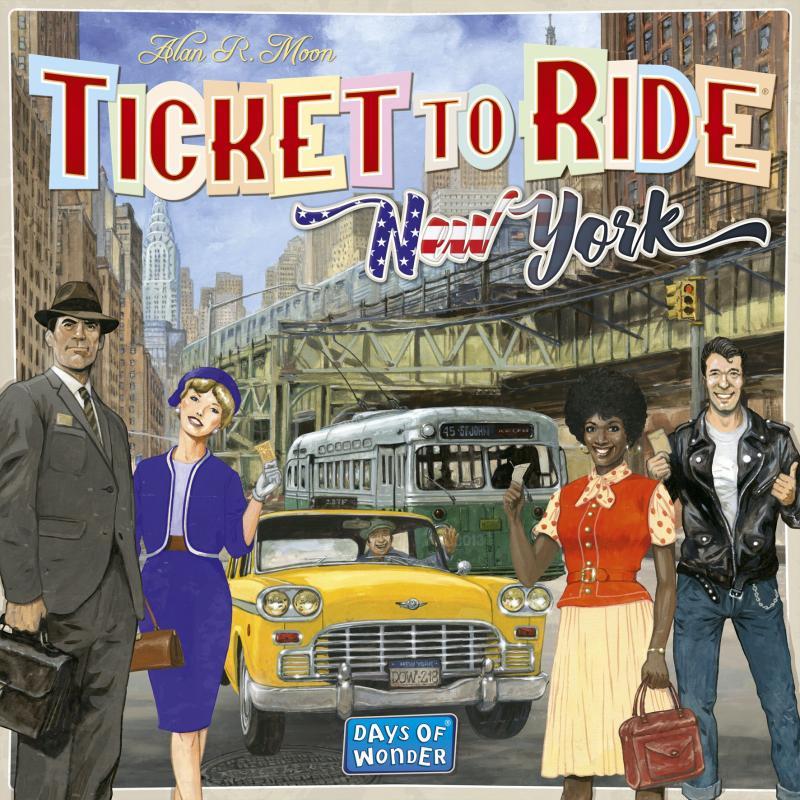 настольная игра Ticket to Ride: New York Билет на поездку: Нью-Йорк
