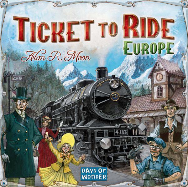 настольная игра Ticket to Ride: Europe Билет на поездку: Европа