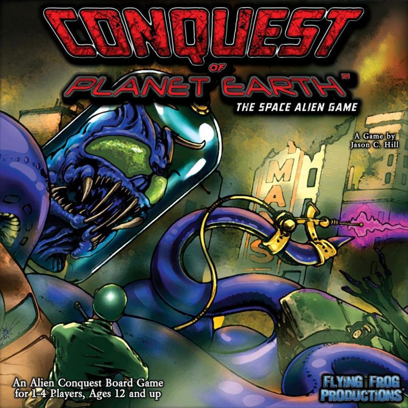 настольная игра Conquest of Planet Earth: The Space Alien Game Завоевание планеты Земля: космическая игра пришельцев