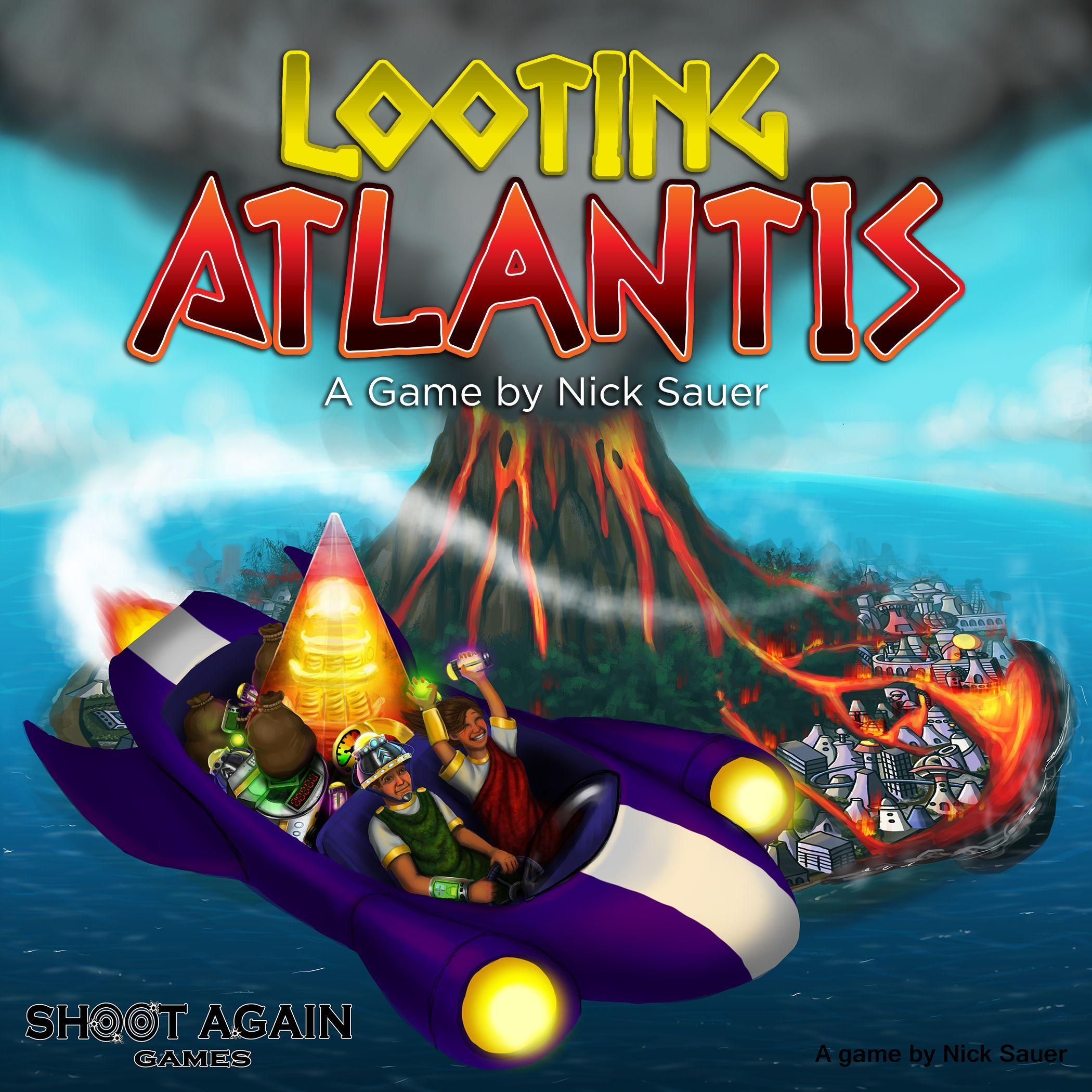 настольная игра Looting Atlantis Разграбление Атлантиды