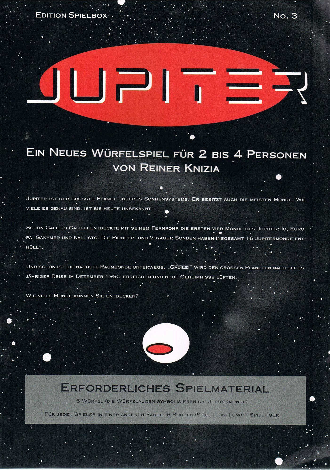 настольная игра Jupiter Юпитер