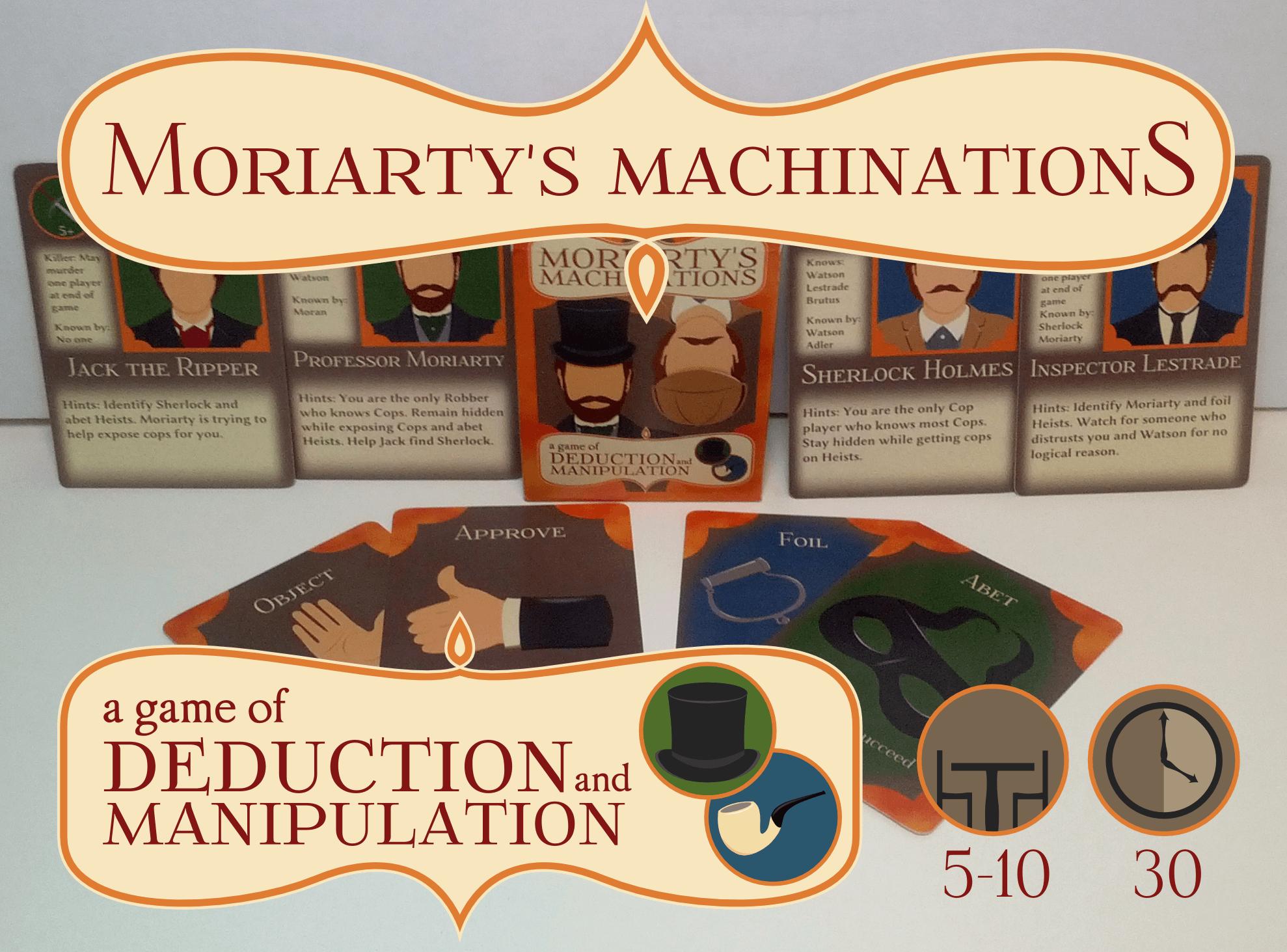 настольная игра Moriarty's Machinations Махинации Мориарти