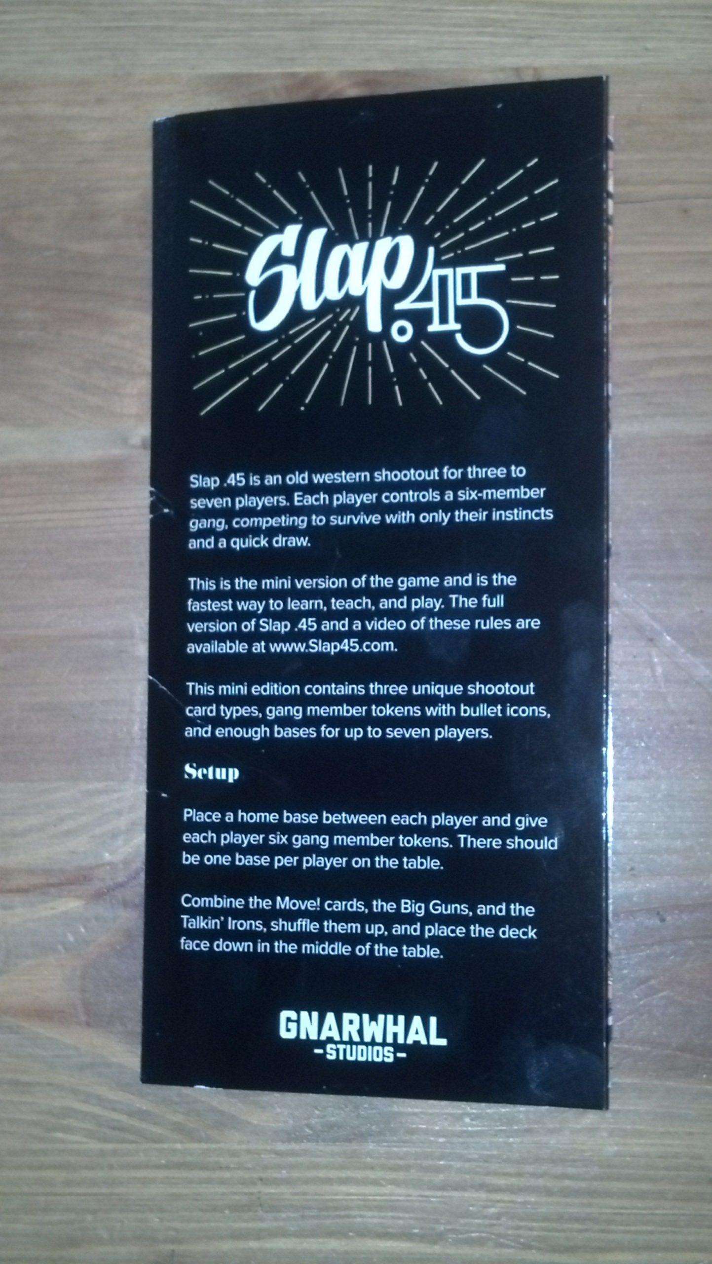 настольная игра Slap .45 Mini Шлепок .45 Mini