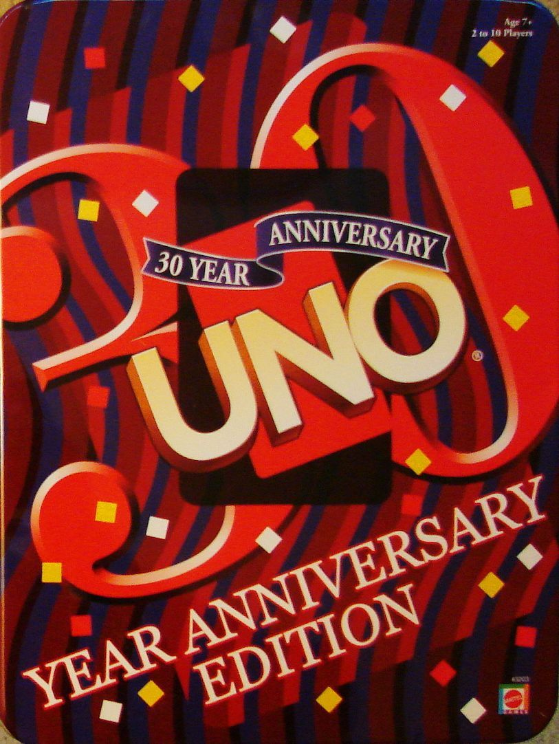 настольная игра Uno: 30 Year Anniversary Edition Uno: 30-летнее юбилейное издание