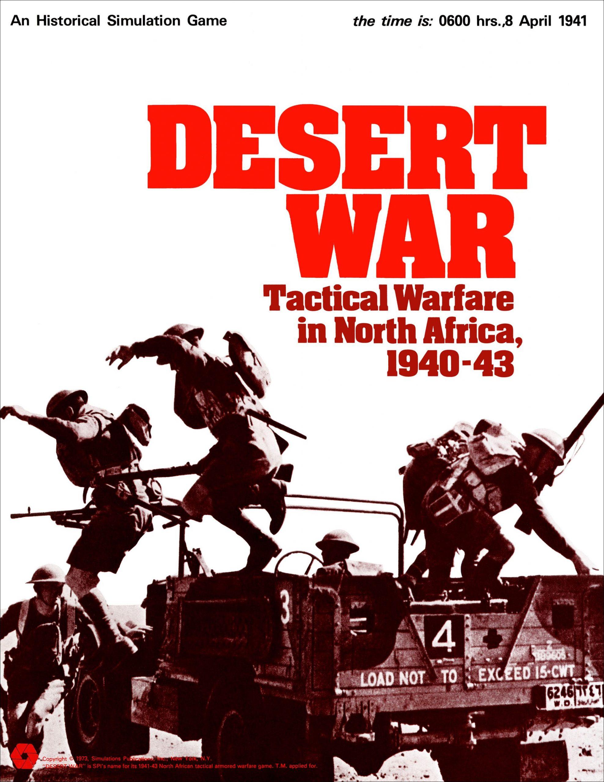 настольная игра Desert War: Tactical Warfare in North Africa, 1940-43 Война в пустыне: тактическая война в Северной Африке, 1940-43 гг.