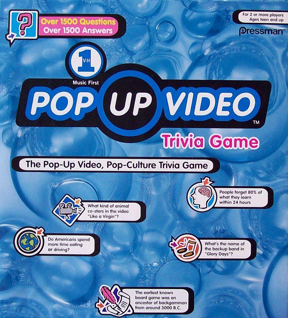 настольная игра VH1 Pop Up Video Game VH1 Pop Up Видеоигры