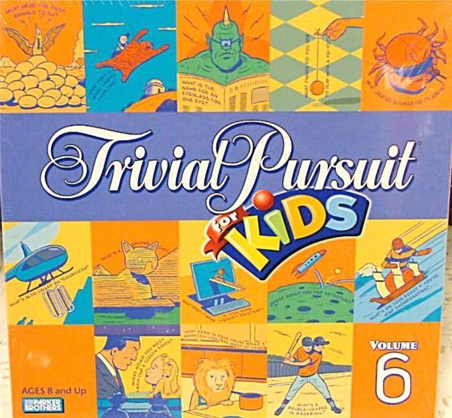 настольная игра Trivial Pursuit For Kids Тривиальное преследование для детей