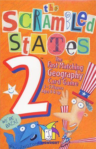 настольная игра Scrambled States of America 2 Зашифрованные Штаты Америки 2