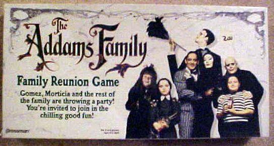 настольная игра The Addams Family Family Reunion Game Игра о воссоединении семьи Аддамс