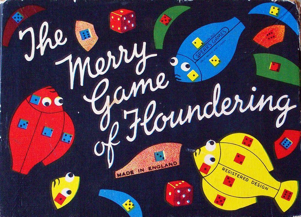 настольная игра The Merry Game of Floundering Веселая игра с барахтанью