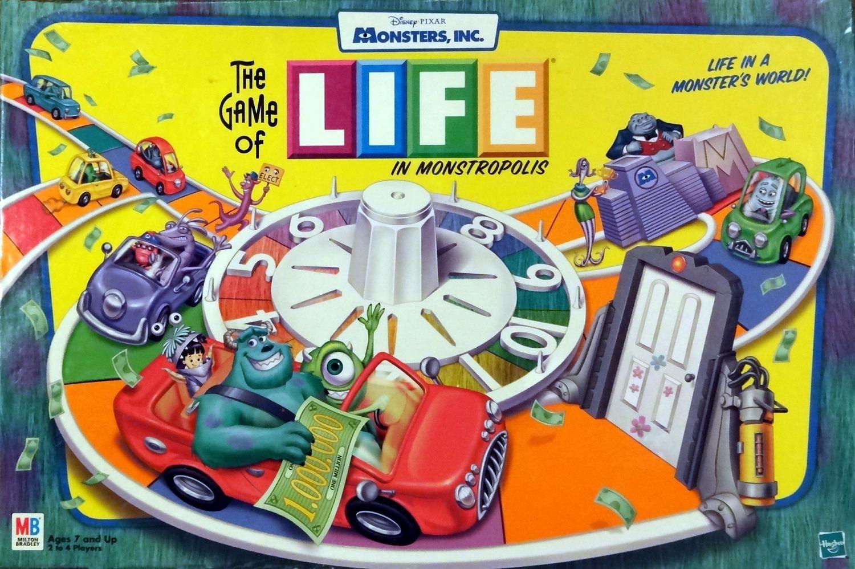 настольная игра The Game of Life in Monstropolis Игра жизни в Монстрополисе
