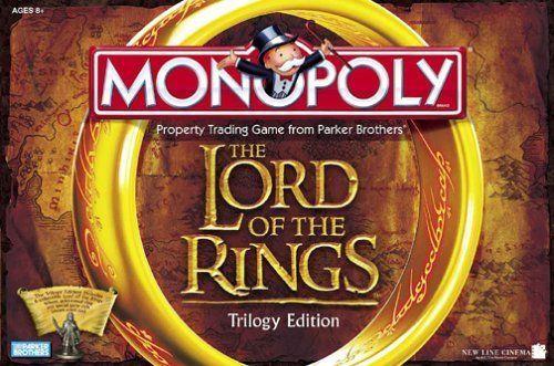 """настольная игра Monopoly: The Lord of the Rings Trilogy Edition Монополия: издание трилогии """"Властелин колец"""""""