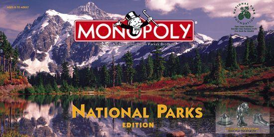 настольная игра Monopoly: National Parks Edition Монополия: издание национальных парков