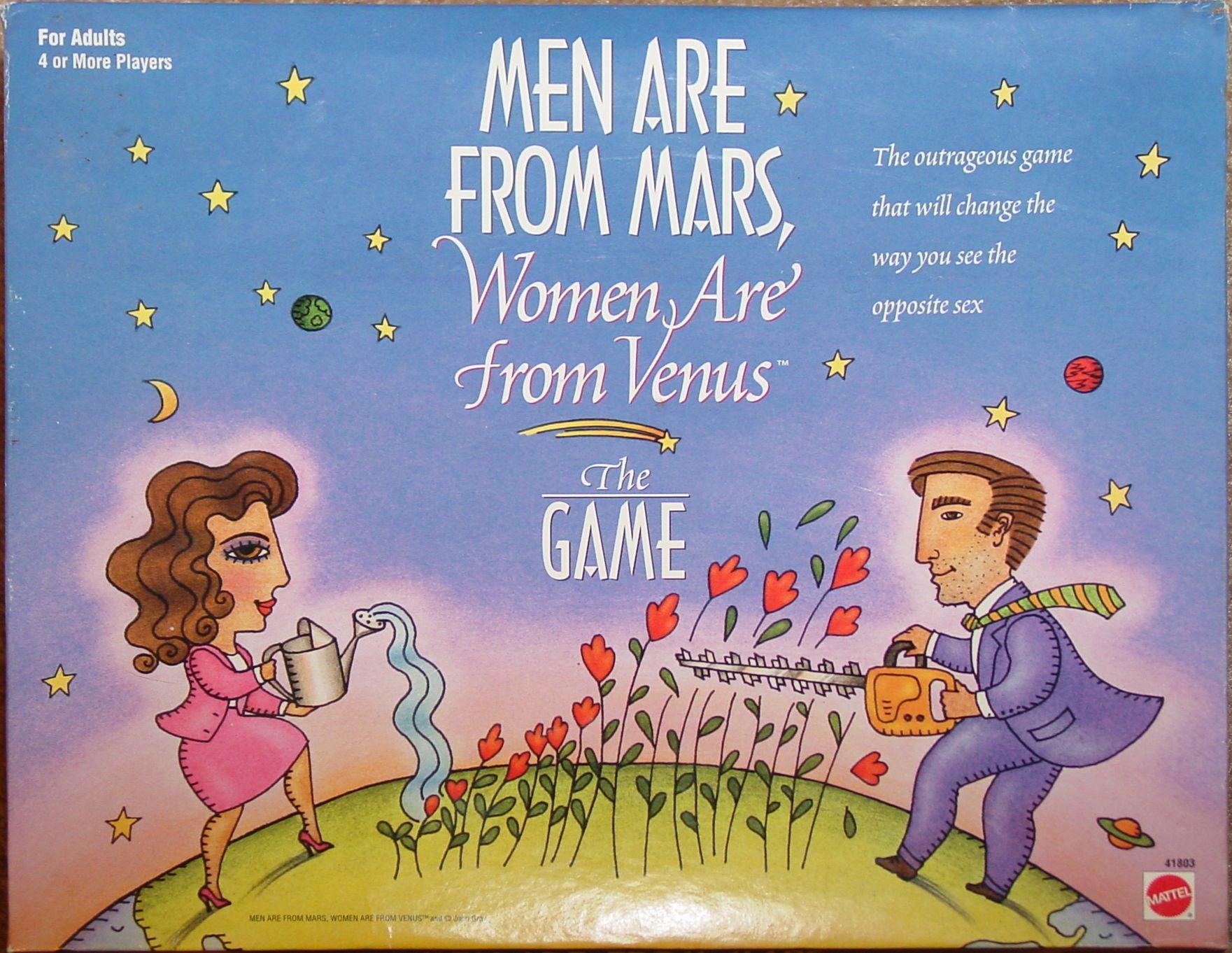 настольная игра Men Are from Mars, Women Are from Venus Мужчины с Марса, женщины с Венеры