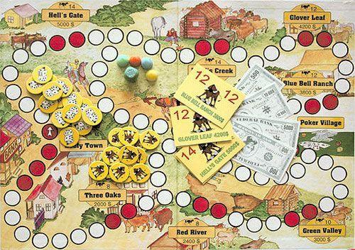 настольная игра Kaubojai