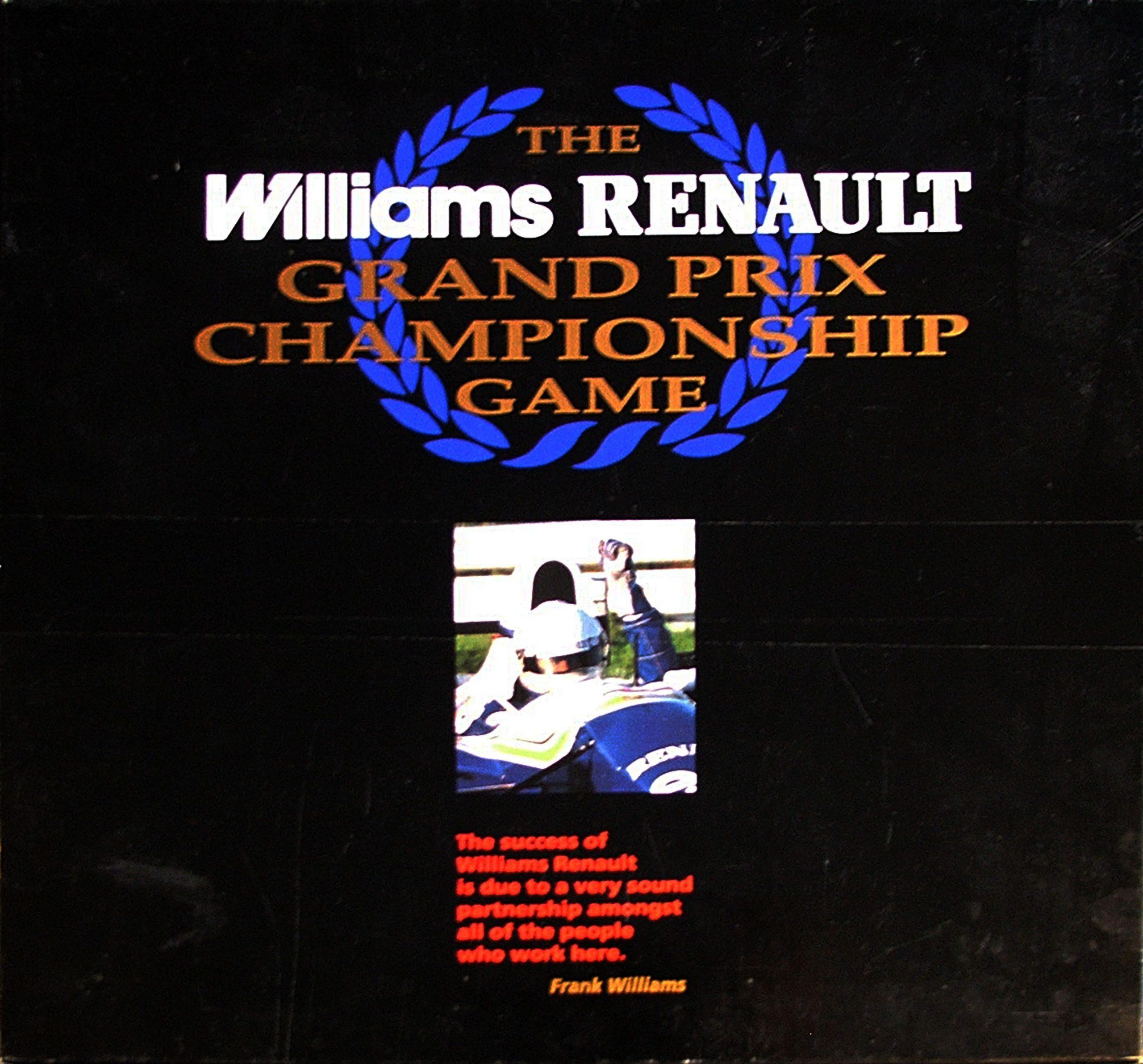 настольная игра Williams Renault Grand Prix Championship